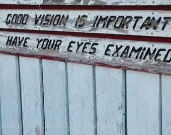 Good Vision is Important - 4 x 6 photograph