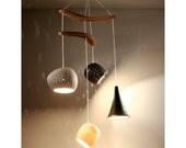 Chandelier Lighting:  Claylight Boomerang Miro - LED or Xenon Bulbs - On Sale 20% off