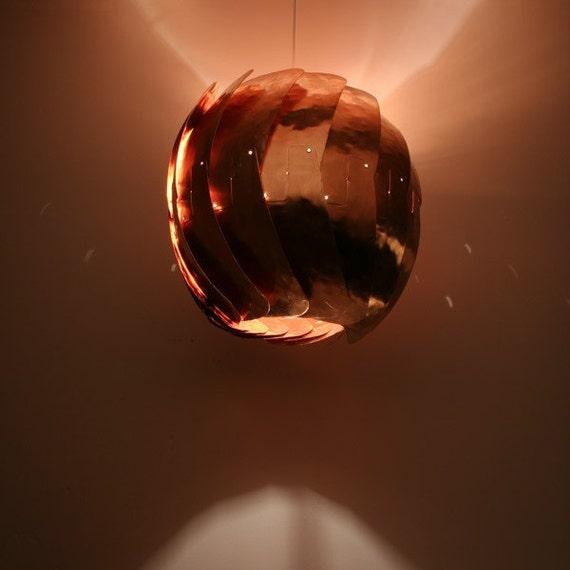 """Iris Pendant Light. 13"""", Copper - reserved for Porsha"""