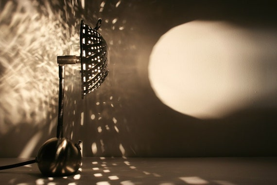 SteamLight Micro Lamp with a polished finish