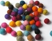 1.5CM Felt Balls/50-Piece - Multi Mix