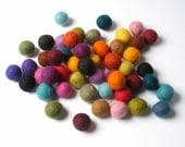 1CM Felt Balls/50-Piece - Multi Mix