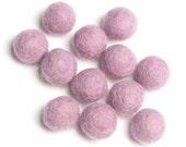 2CM Felt Balls/24-Piece - Light Lavender