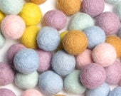 SALE - 1.5CM Felt Balls/60-Piece - Cupcake Mix