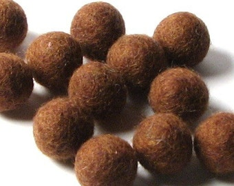 2CM Felt Balls/24-Piece - Brown