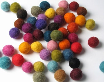 1.5CM Felt Balls/50-Piece - Multi Mix