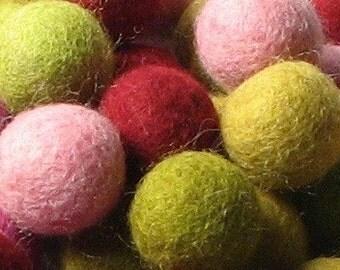 2CM Felt Balls/60-Piece - Mod Mix
