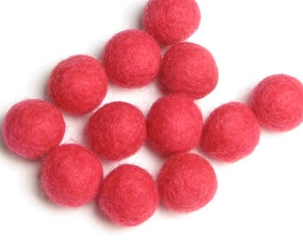 2CM Felt Balls/24-Piece - Salmon