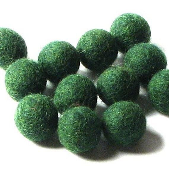 2CM Felt Balls/24-Piece - Forest