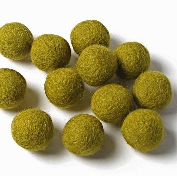 1CM Felt Balls/24-Piece - Olive
