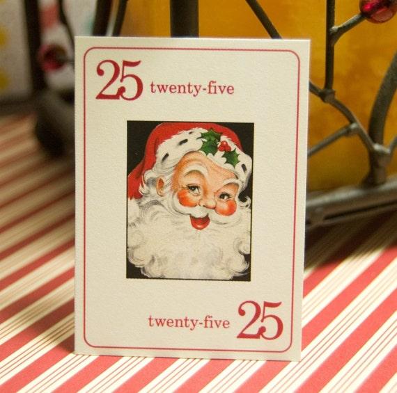 Santa Vintage Flashcards - 4x6