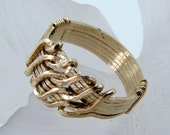Goldfilled Wirewrapped Wave Ring-Any Size