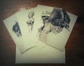 4 Small Prints Set
