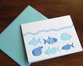 Fish, letterpress, Single