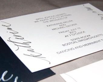 Whimsy Wedding Invitation- Letterpress, SAMPLE