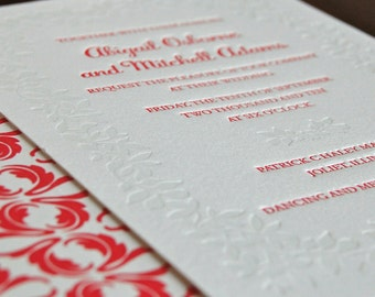 Edera - Letterpress Wedding Invitation Sample