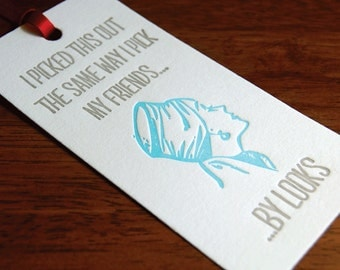 By Looks- Letterpress printed Bottle Tag, Gift Tag