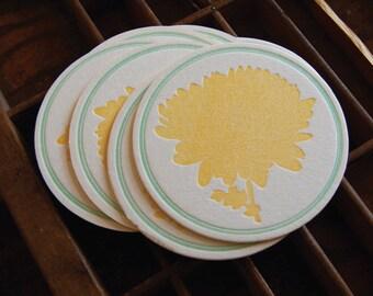 Mum coaster- Letterpress printed, SET of 8