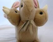 Reserved for mashley66 - 3 Headed Bunny of DOOM