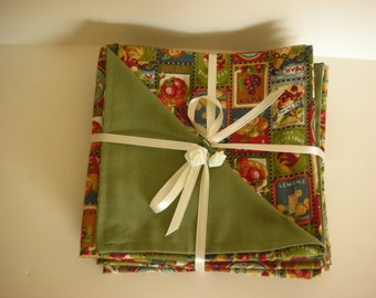 6 Reversible Cloth Napkins