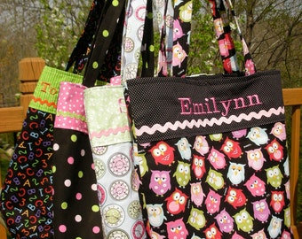 Preschool Bag, Personalized, Design Your Own Classic Library Bag by LBs Sewing Sanity, 100s Fabric Choices