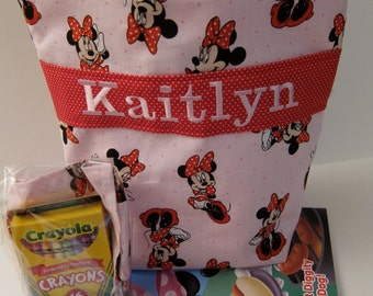 Kids Tote, Minnie Mouse, Girls Purse, Personalized, Toddler Tote, LBs Sewing Sanity
