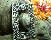 Cheetah Light Switch Plate Cover Rocker Decora Single Animal Print (STANDARD SIZE)