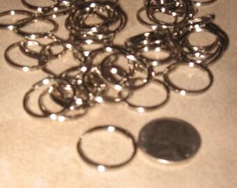 50 metal key rings