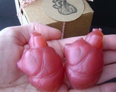 Anatomical Heart Gift Set -  Anatomically Correct HEART - Glycerin Soap - Merlot Wine Scent - Shaped Soap - Mothers day  gift - For  Him