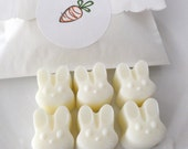 Mini Bunny Head Soap Set - French Vanilla Scented - Goat's Milk Soap - Gift Set - Spring - baby shower - teen - birthday party favor - sweet