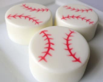 Baseball Soap - Goat Milk Soap - Scented Root Beer or Leather - Gift for Him -  Easter - Sport - Coach Gift  - Father Day - Dad - Teen