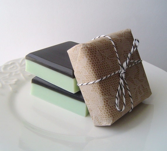 Moroccan Mint Square-Glycerin and Goat's Milk Soap