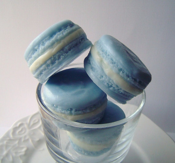 New-French Macaron Collection-Goat's Milk Soap-Blueberry Delight Scent