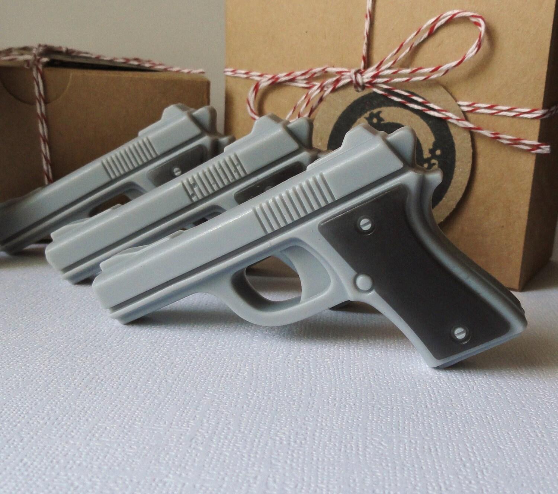 Gun Soap Target Practice Mini Pistol Box Set Of By