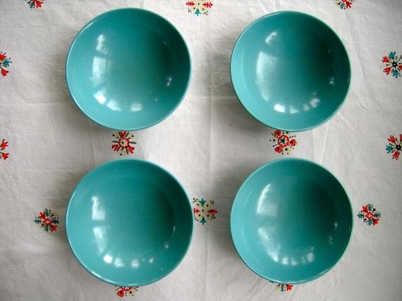 Vintage Set Of 4 Melmac Bowls