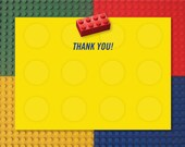 Building Block Thank You Notes 4-square