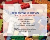 Building Block Invitations Printable