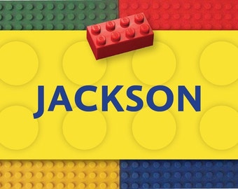 Building blocks treat bag labels-4sq