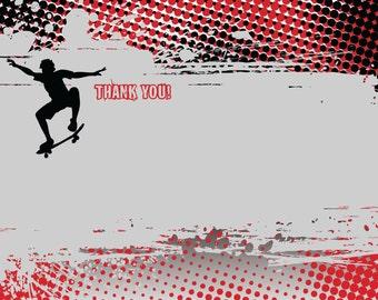 Skateboarding Notecards/Thank You Notes