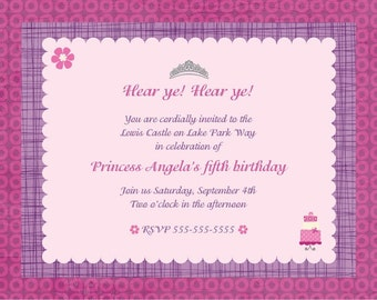 Princess Party Invitations-12