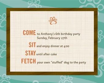 Dog Theme Birthday Invitations-12