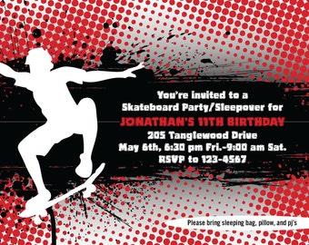 Skateboard Invites-Printable