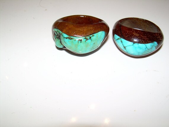 Turquoise and Milo ring inlaid size 6