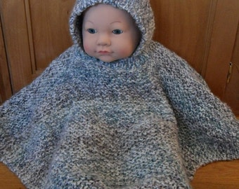 PATTERN - Hooded Baby Poncho - size 6 months to 2 years