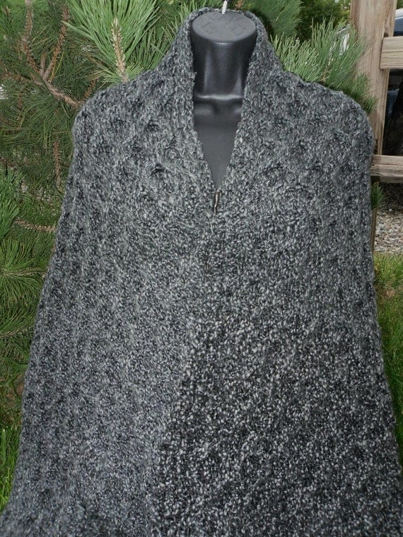 PATTERN - Hand Knit Honeycomb Cable Shawl/Wrap