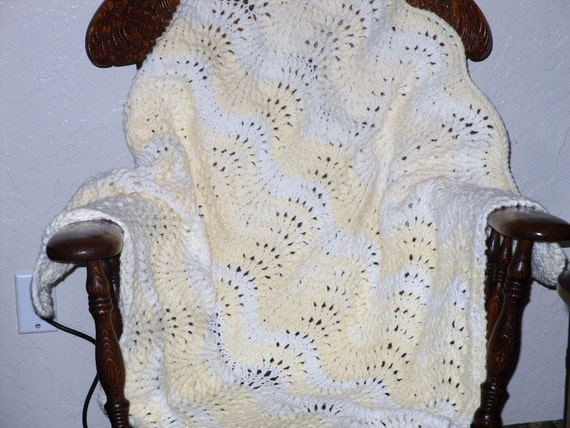 Sale Item - Hand Knit Baby Blanket or Lap Throw