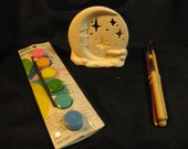 U-Paint Ceramic Bisque Moon & Stars Candle Holder Kit