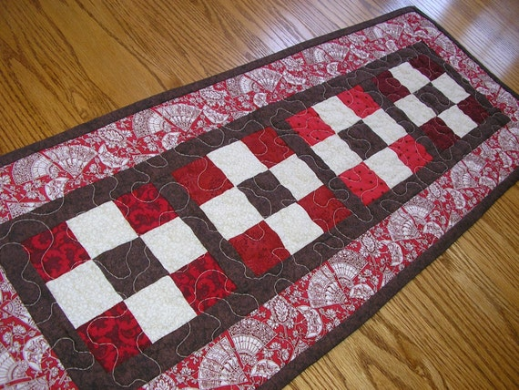 Nine Patch Table Runner 13 x 32 1/2 inches