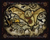Batly Ascends print by Kamala Dolphin-Kingsley
