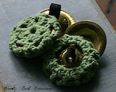 """Practice Belly Dance Zill Mufflers 2 1/8"""" -  Sage Green -  Made To Order"""
